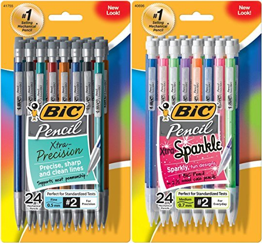 BIC MPFP51-Blk Xtra-Precision Mechanical Pencil, Metallic Barrel, Fine  Point (