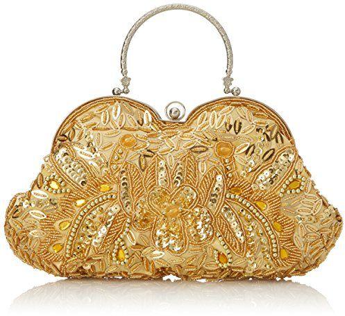 MG Collection Sarita Beaded Sequin Evening Bag, Gold $14.40 (reg. $65.00)