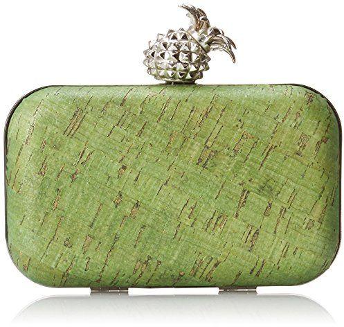 La Regale Color Corck Minaduiere with Pineapple Closure Evening Bag, Green $20.00 (reg. $70.00)