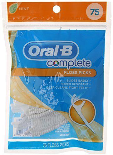Oral B Complete Floss Picks, Mint Flavor, 75 Count $2.00