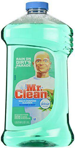 Mr. Clean Multi-Surfaces Liquid with Febreze Freshness Meadows and Rain, 40-Fluid Ounces $2.59