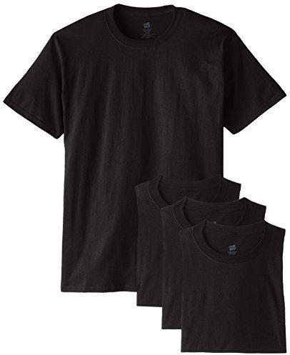 Hanes Men's ComfortSoft T-Shirt (Pack of 4), Black $12.29 (reg. $15.68)