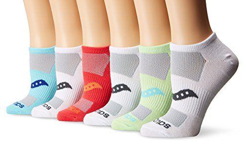 Saucony Women's Performance Super Lite No Show Socks, Light Assorted, 9-11/Shoe Size 5-10 (Pack of 6) $13.99 (reg. $18.00)
