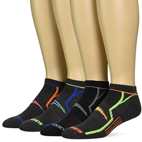 Saucony Men's 6 Pack Performance No Show Socks, Grey/Blk Asst, 10-13 Sock/8-12 Shoe $10.99 (reg. $18.00)