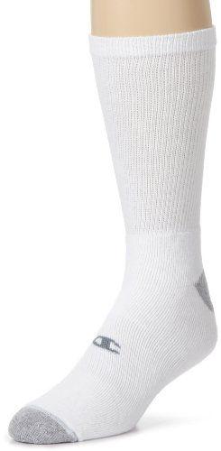 Champion Men's Crew Socks White, 10-13 / Shoe: 6-12 (Pack of 6) $9.99 (reg. $12.76)