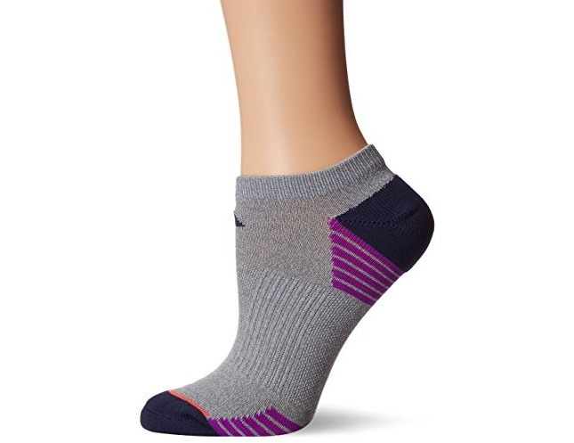 adidas Women's Superlite Speed Mesh No Show Socks (2 Pack), Clear Grey/Grey/Purple/Coral, Medium $9.99 (reg. $14.00)