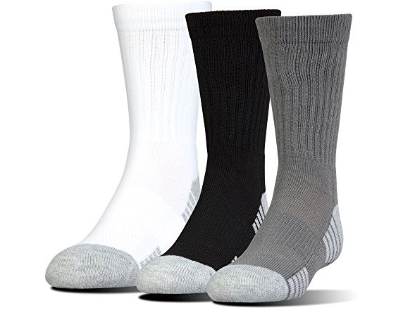 Under Armour Men's Heatgear Tech Crew Socks, Graphite Assortment, Large $10.99 (reg. $16.99)