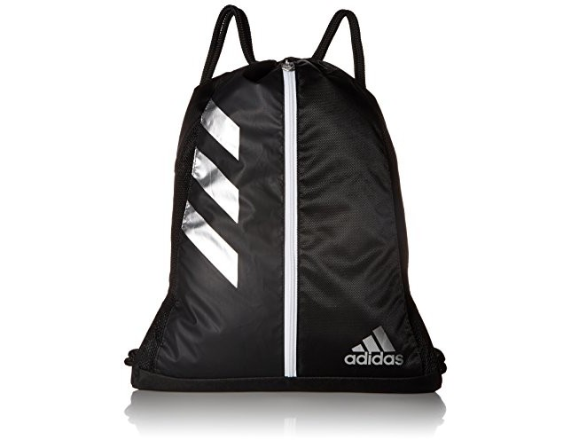 adidas Team Issue Sackpack, One Size, Black/Silver $12.99 (reg. $22.00)