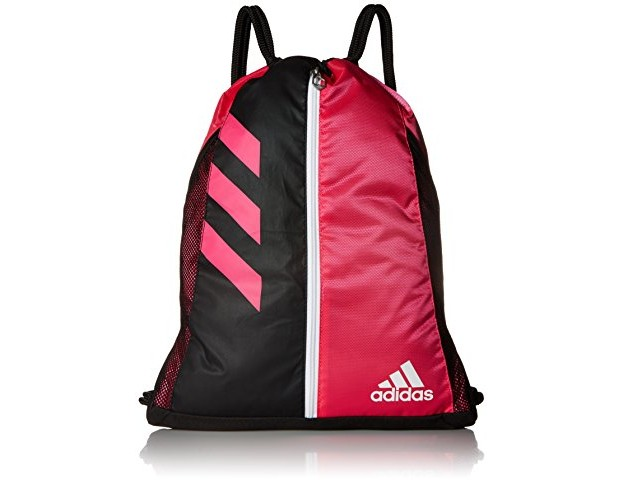 adidas Team Issue Sackpack, One Size, Shock Pink/Black/White $12.99 (reg. $20.83)
