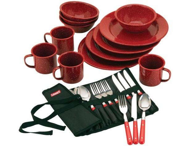 Coleman 24-Piece Enamel Dinnerware Set $19.23 (reg. $29.48)