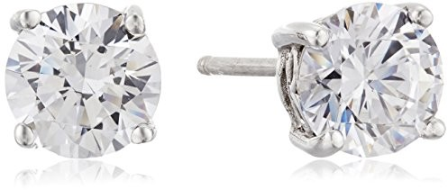 Platinum-Plated Sterling Silver Round-Cut Swarovski Zirconia Stud Earrings (2 cttw) $12.00 (reg. $15.00)