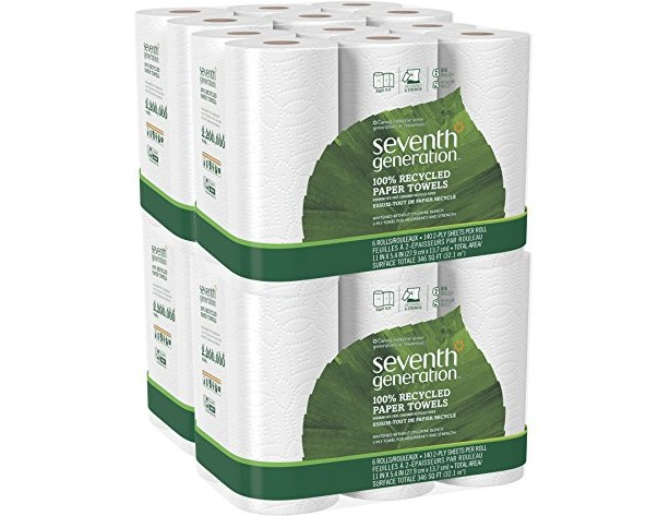 Seventh Generation White Paper Towels, 2-ply, 140-sheet Rolls, 6-Count (Pack of 4) $38.77 (reg. $44.99)