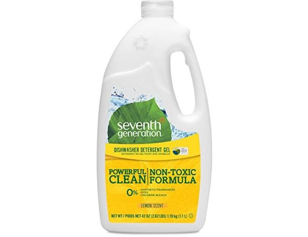 Seventh Generation Dishwasher Detergent Gel Soap, Lemon Scent, 42-Ounce Bottles, Pack of 6, Packaging May Vary $25.74 (reg. $37.71)