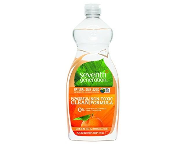 Seventh Generation Natural Dish Liquid, Clementine Zest & Lemongrass Scent, 25-Fluid Ounce Bottles (Pack of 6) $20.94 (reg. $26.70)
