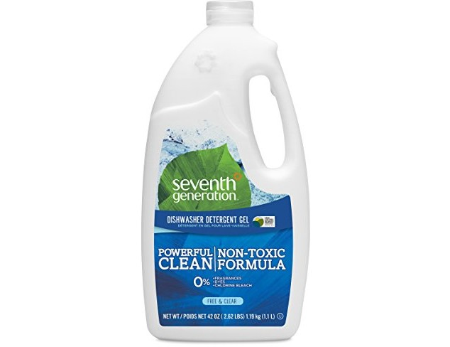 Seventh Generation Dishwasher Detergent Gel Soap, Free & Clear, 42 Ounce Bottles, Pack of 6, Packaging May Vary $37.71