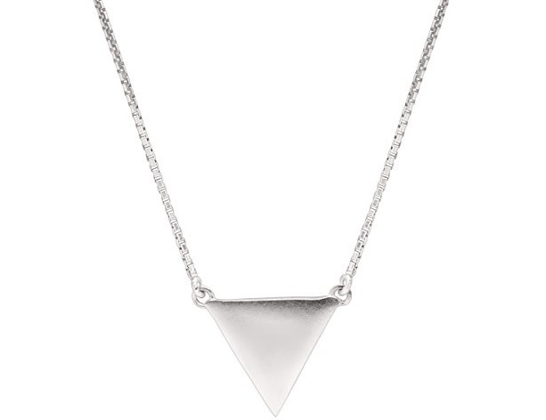 Silpada Sterling Silver Triangle Necklace, 16+2\