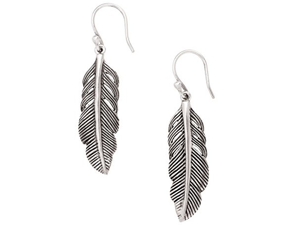 Silpada 'Etched Feather' Sterling Silver Drop Earrings $39.00