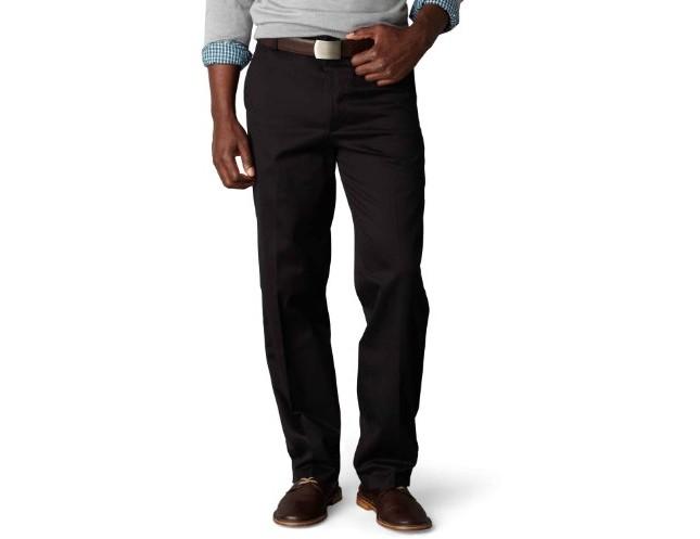 Dockers Men's Classic Fit Flat Front Signature Khaki - 32W x 30L - Black (Cotton)-discontinued $19.99 (reg. $58.00)