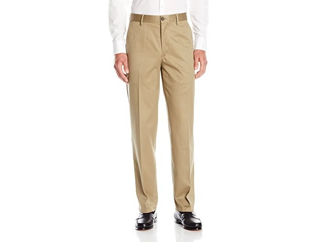 Dockers Men's Classic Fit Flat Front Signature Khaki - 32W x 30L - Dark Khaki (Cotton)-discontinued $19.99 (reg. $58.00)
