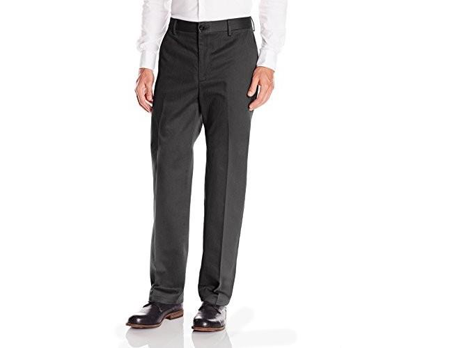 Dockers Men's Classic Fit Flat Front Signature Khaki - 32W x 30L - Charcoal Heather (Cotton)-discontinued $19.99 (reg. $58.00)
