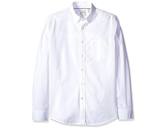 Dockers Men's Long Sleeve Texture Dobby Button Front Woven Shirt, Paper White $20.99 (reg. $68.00)