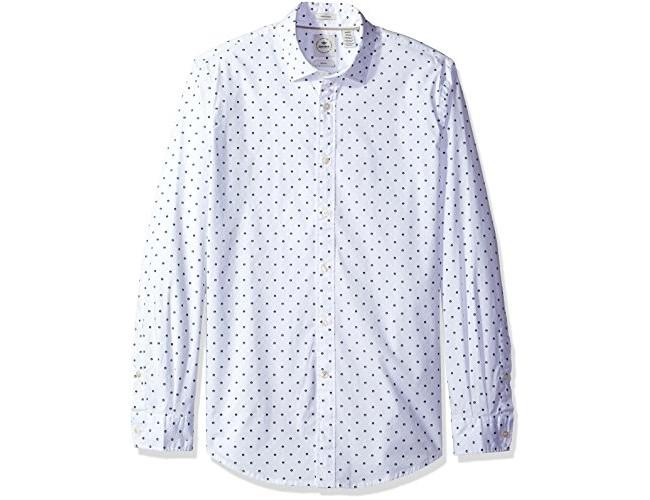 Dockers Men's Long Sleeve Texture Dobby Button Front Woven Shirt, Forest Green $20.99 (reg. $68.00)