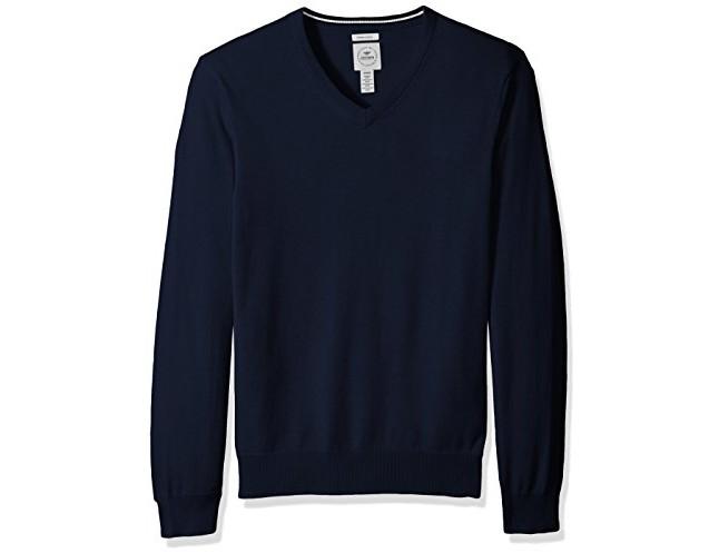 Dockers Men's Long Sleeve V-Neck Cotton Sweater, Pembroke $24.99 (reg. $78.00)