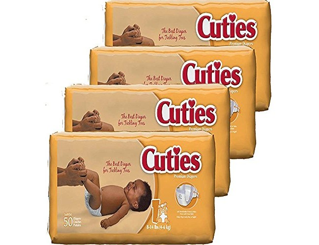 Cuties Baby Diapers, Size 1, 50-Count, Pack of 4 $16.87 (reg. $27.83)