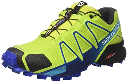 Salomon Men's Speedcross 4 Trail Runner, Lime Green/Nautical Blue/Hawaiian Ocean $77.95 (reg. $129.99)