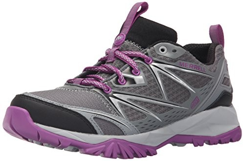 Merrell Women's Capra Bolt Waterproof Hiking Shoe, Grey/Purple $77.95 (reg. $129.99)