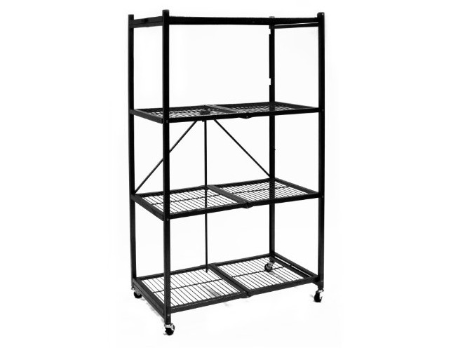 Origami R5-01W General Purpose 4-Shelf Steel Collapsible Storage Rack with Wheels, Large $86.49 (reg. $120.95)