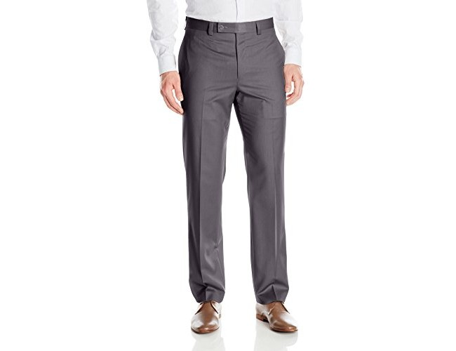 Calvin Klein Men's Modern Fit Performance Flat Front Dress Pant, Charcoal, 34 X 34 $29.97 (reg. $32.99)
