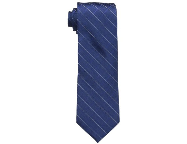 Calvin Klein Men's Etched Windowpane B Tie , Navy, One Size $22.45 (reg. $65.00)