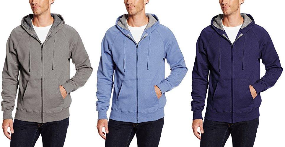 2b319e2de Hanes Men's Full Zip Nano Premium Lightweight Fleece Hoodie, Vintage Gray,  Small