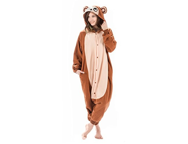 7c0fe9e9eff4 Adult Onesies Kigurumi Monkey Costume  Animal Onesie Cosplay Furries  Pajamas   Hood for Men