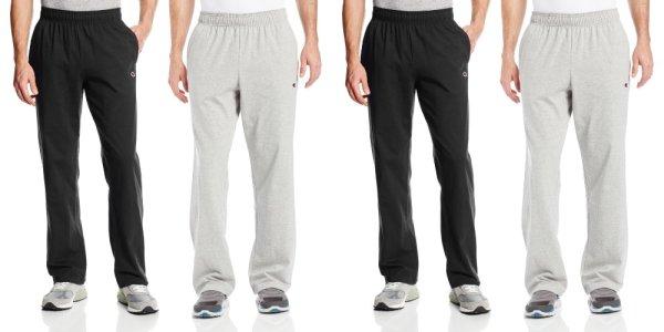 Champion Men's Authentic Open Bottom Jersey Pant, Large - Black