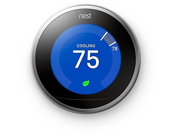 Nest Learning Thermostat 3rd Generation, Stainless Steel, Works with Amazon Alexa $199.00 (reg. $249.99)