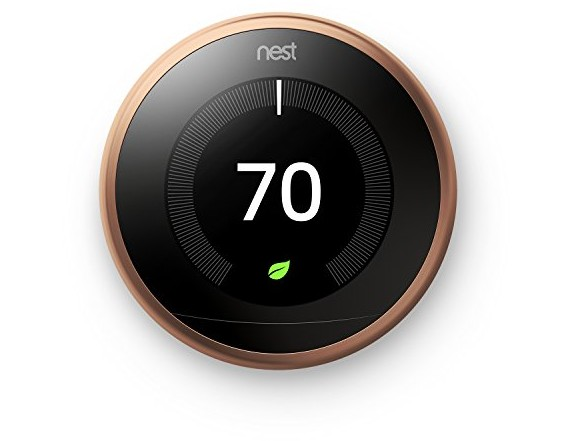 Nest Learning Thermostat 3rd Generation, Copper, Works with Amazon Alexa $199.00 (reg. $249.99)
