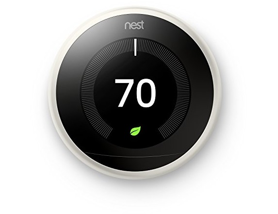 Nest Learning Thermostat 3rd Generation, White, Works with Amazon Alexa $199.00 (reg. $249.99)