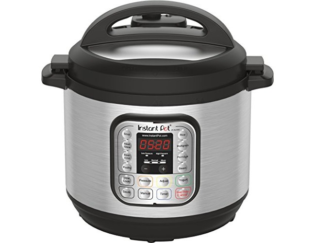 Instant Pot DUO80 8 Qt 7-in-1 Multi- Use Programmable Pressure Cooker, Slow Cooker, Rice Cooker, Steamer, Sauté, Yogurt Maker and Warmer $81.99 (reg. $129.95)