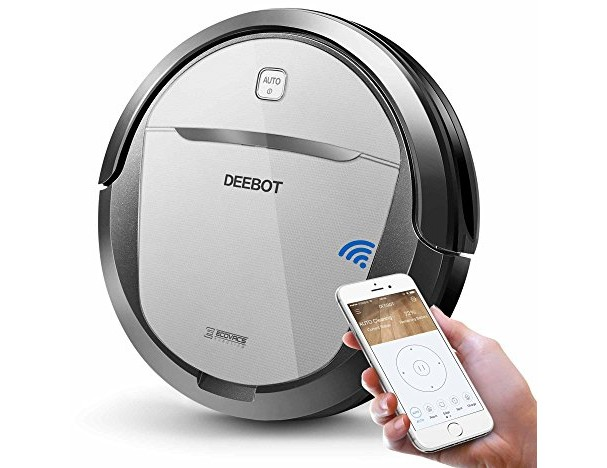 ECOVACS Deebot M80 Pro Robot Vacuum Cleaner with Mop and Water Tank Attachment, Brush Roll Attachment, Sensor Navigation for Pet Hair, Fur, Dirt, Stains, Thin Carpet, Hardwood and Tile Floor $319.98