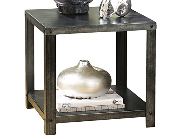 Ashley Furniture Signature Design - Hattney Contemporary End Table - Industrial Style - Square - Metal $61.86 (reg. $91.31)