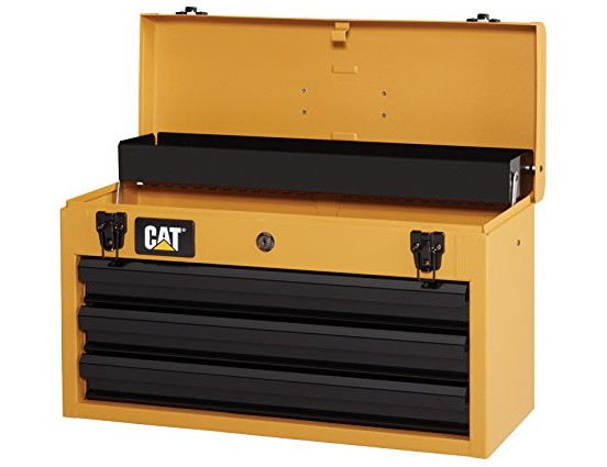 Cat 3-Drawer Portable Steel Tool Chest, Yellow Finish, 20\