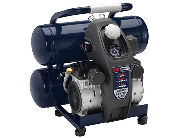 Quiet Air Compressor, Lightweight, 4.6 Gallon, Half the Noise and Weight, 4X Life, All the Power (Campbell Hausfeld DC040500) $179.99 (reg. $249.00)