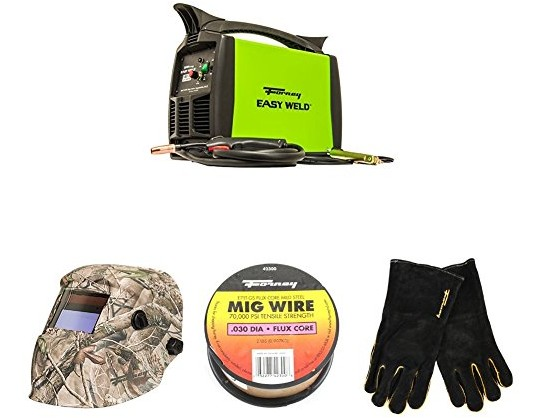 Forney Easy Weld 299 125FC Flux Core Welder, 120-Volt, 125-Amp with Camo Welding Helmet, 2 Pound Spool, .030- Diameter Mig Wire, and Leather Welding Gloves, Large $211.10 (reg. $277.17)
