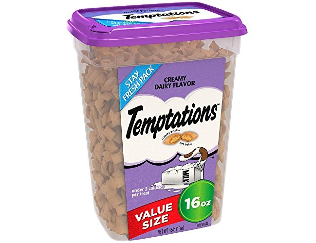 TEMPTATIONS Classic Treats for Cats Creamy Dairy Flavor 16 Ounce; Holiday Favorite for Your Cat's Stocking $5.58 (reg. $7.99)