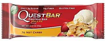 Quest Nutrition Protein Bar, Apple Pie, 20g Protein, 6g Net Carbs, 190 Cals, 2.1oz Bar, 1 Count, High Protein, Low Carb, Gluten Free, Soy Free $0.00