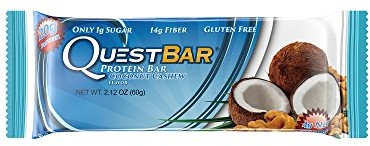 Quest Nutrition Protein Bar, Coconut Cashew, 20g Protein, 4g Net Carbs, 190 Cals, 2.1oz Bar, 1 Count, High Protein, Low Carb, Gluten Free, Soy Free $0.00