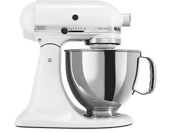 KitchenAid KSM150PSWH Artisan Series 5-Qt. Stand Mixer with Pouring Shield - White $235.20 (reg. $429.99)