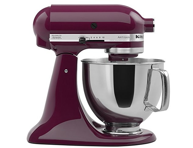 KitchenAid KSM150PSBY Artisan Series 5-Qt. Stand Mixer with Pouring Shield - Boysenberry $246.38 (reg. $259.99)